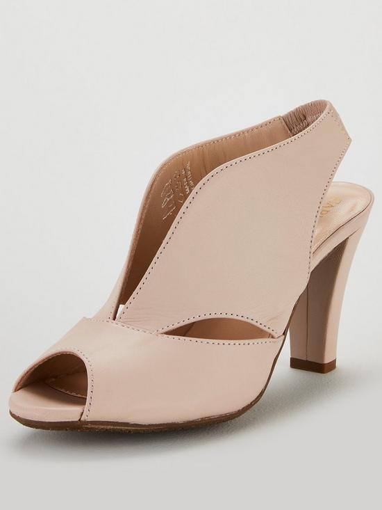 3d164b44292 Carvela Comfort Arabella Leather Midi Heeled Sandal Shoes - Nude Pink