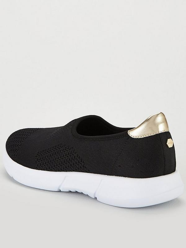 hot-selling official various styles best website Comfort Carly 2 Metallic Plimsoll Trainers - Black/White