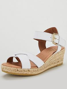 ec1f7b98e71 Carvela Comfort Shirley Wedge Sandal Shoes - White