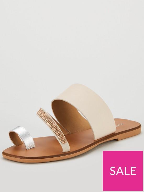 Metallic London Dawn Shoes Kurt Strap Flat Geiger Bejewelled Sandal OiwuTkXZP
