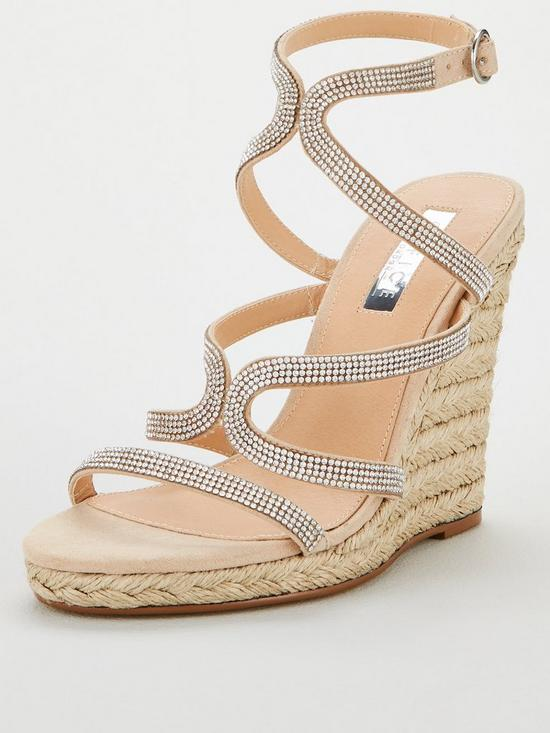 e245fcaec3 OFFICE Honeydew Embellished Wedge Sandals - Nude | very.co.uk