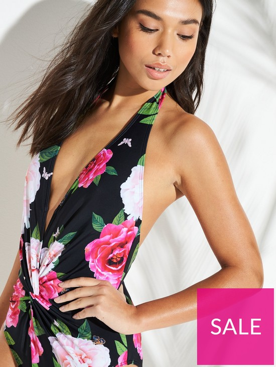 2b8e256c1d0da ... Ted Baker Velily Magnificent Open Back Swimsuit - Black. 2 people have  looked at this in the last couple of hrs.