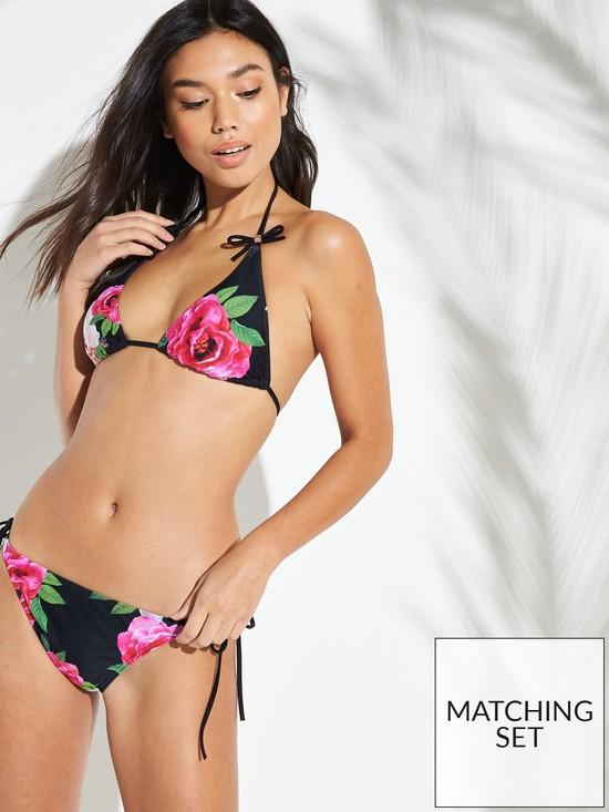 6f2b314ac1271 Ted Baker Velmora Magnificent Triangle Bikini Top - Black