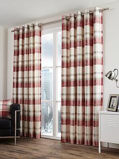 balmoral-check-lined-eyelet-curtains