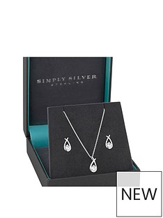 jon-richard-simply-silver-cubic-zirconia-love-knot-earrings-and-pendant-set