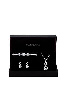 jon-richard-jon-richard-silver-infinity-bangle-earrings-and-pendant-set