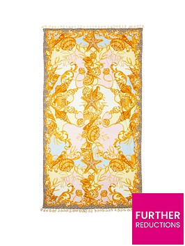 river-island-shell-print-terry-back-towel
