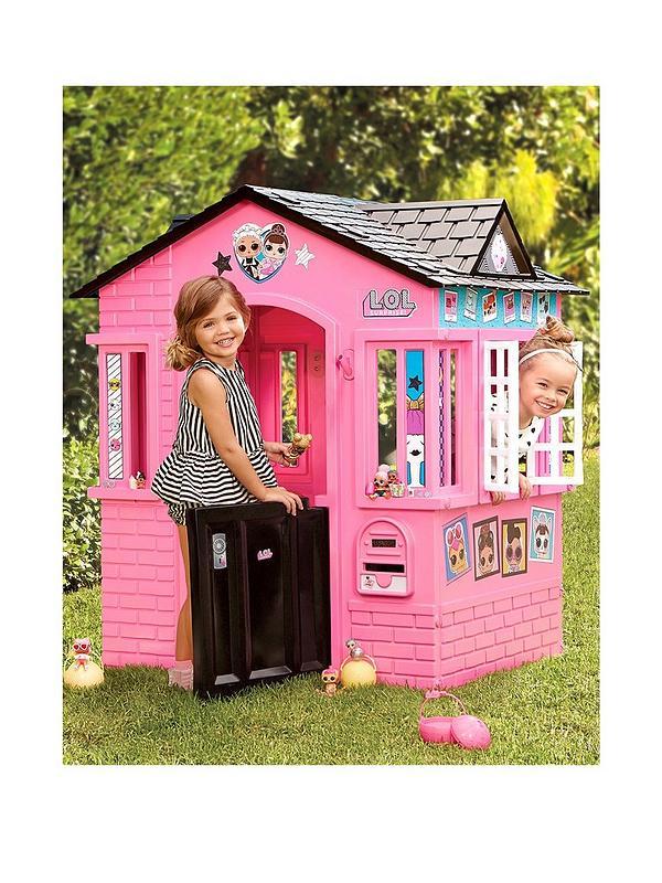 Magnificent Pink Cottage Playhouse With Glitter Download Free Architecture Designs Saprecsunscenecom
