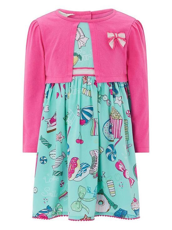 46b573340f078 Monsoon Baby Marlin Cardigan 2 In 1 Dress | very.co.uk