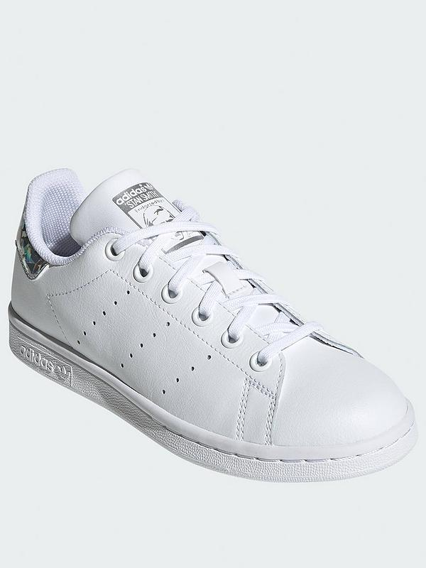 Adidas Original Stan Smith White Green Junior//Womens//Boys//Girls Sizes UK 3-5.5