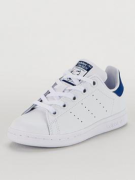 adidas-originals-stan-smith-childrens-trainers-whiteblue