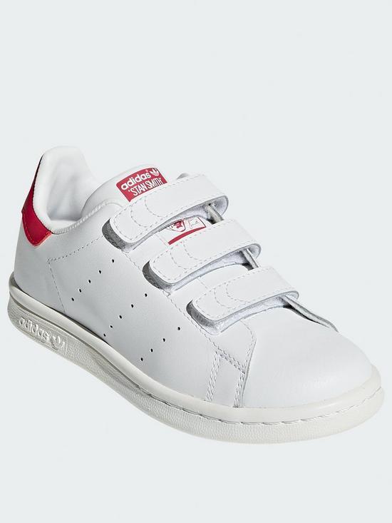 économiser 9bd19 bb2f2 adidas Originals Stan Smith Childrens Trainers - White/Pink ...