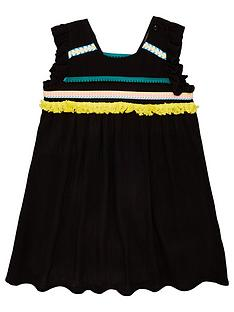 6ff93240e Mini V by Very Girls Crinkle Tape Dress With Trims - Black
