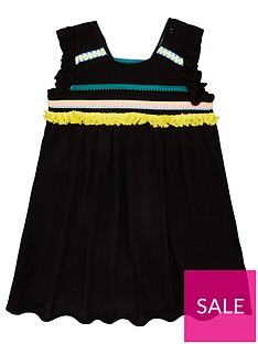 eac3feb0c Mini V by Very Girls Crinkle Tape Dress With Trims - Black