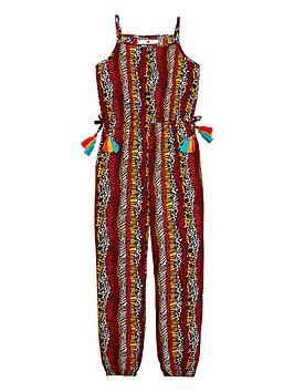 v-by-very-girls-animal-print-tassel-jumpsuit-multi