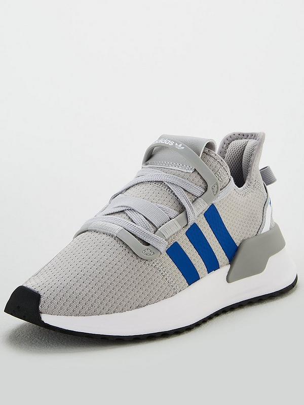 adidas Originals U_Path Run J Grau Textil Trainer Schuhe