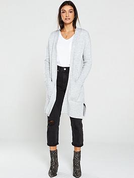 v-by-very-edge-to-edge-split-seam-cardigan-grey-marl