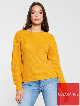 v-by-very-crossover-back-fisherman-rib-jumper-ochre