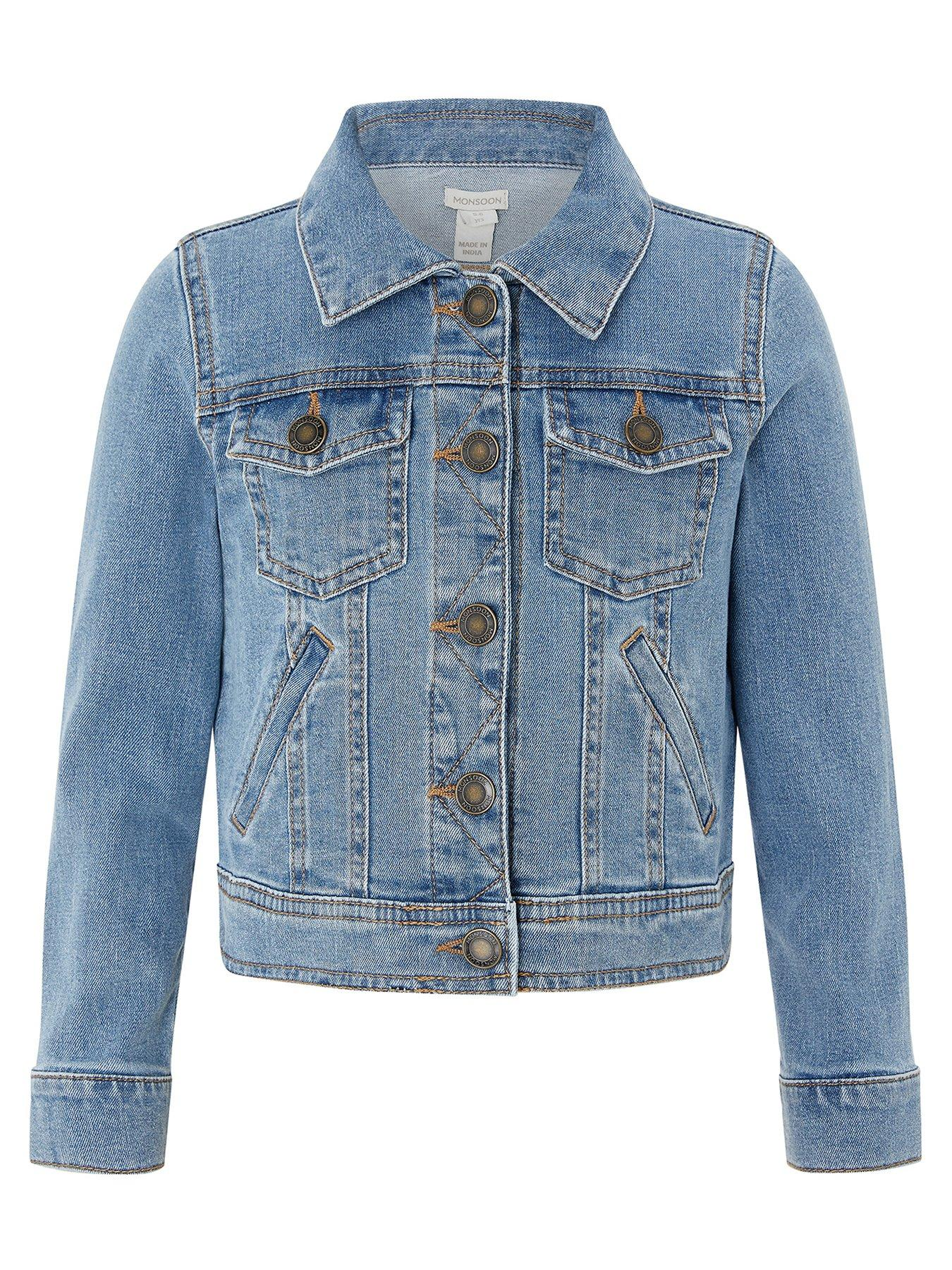 3-6mths Next Baby Girls Royal Blue Button Up Thin Coat Star Lining Coats, Jackets & Snowsuits
