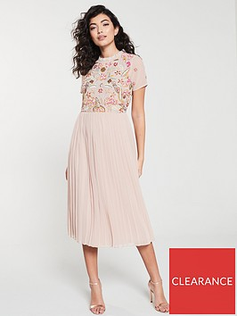 frock-and-frill-embellished-bodice-midi-dress-with-pleat-skirt-blush