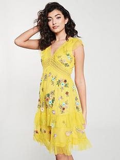 frock-and-frill-frock-and-frill-gabby-embellished-skater-dress-with-v-neck