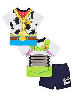5efea15650 Toy Story Boys Buzz and Woody Reversible Back & Front Pyjamas - Multi