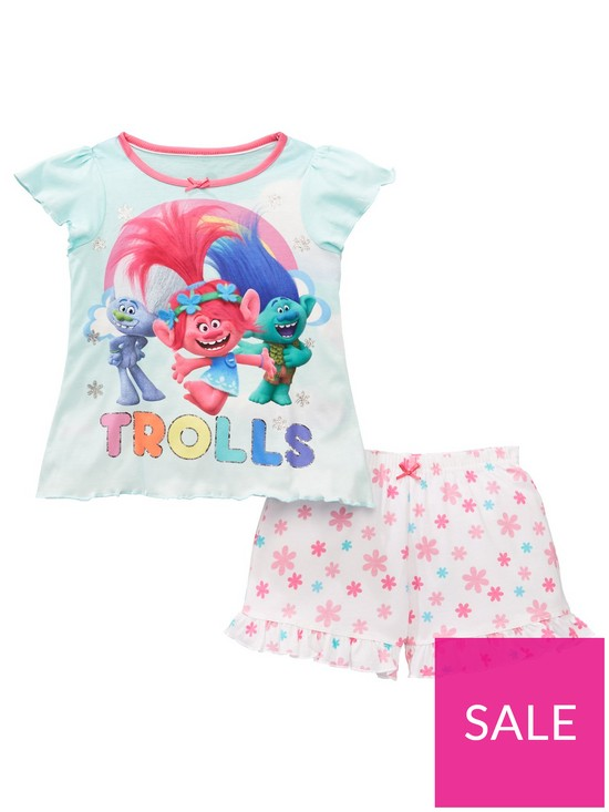 4ff9502ea DreamWorks Trolls Girls Poppy Short Pyjamas - Multi | very.co.uk