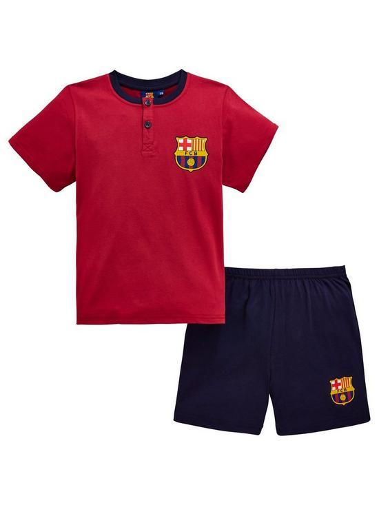 c2fd01b83 Character Barcelona Boys Shorty PJs - Burgundy