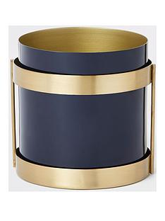 river-island-small-gold-and-blue-planter