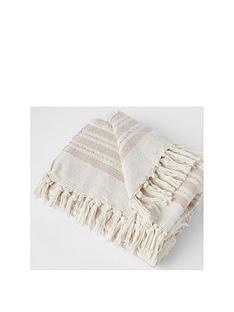 river-island-striped-woven-sequin-tassel-throw