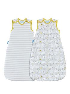 gro-grobag-twin-pack-25-tog--elephant-love-6-18-months