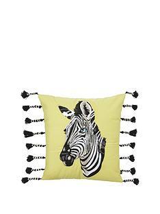 river-island-zebra-head-cushion
