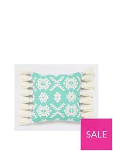 river-island-geo-embroidered-cushion