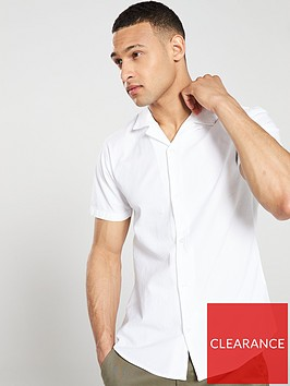 v-by-very-linen-look-cuban-collar-shirt-white