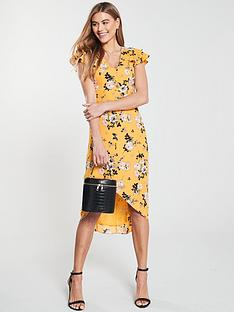 aac4eb0c20ba Oasis Botanical Ochre Midi Dress - Yellow