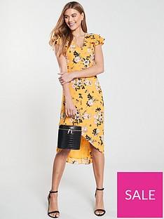 oasis-botanical-ochre-midi-dress-yellow