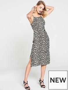 6a6d049fb51 Oasis Animal Square Neck Midi Dress - Animal