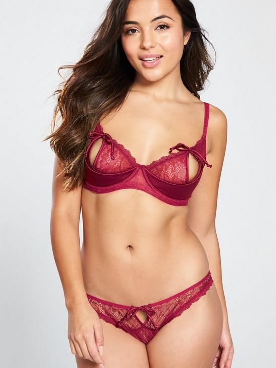 2a9eb138a00 Pour Moi Contradiction All Tied Up Underwired Bra - Red | very.co.uk