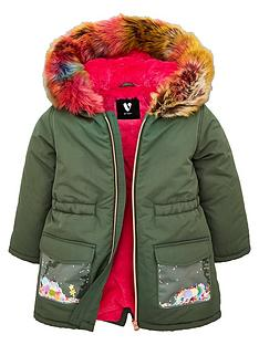v-by-very-girlsnbspmulti-faux-fur-sequin-pocket-coat-khaki