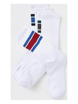 river-island-white-stripe-tube-socks-5pp