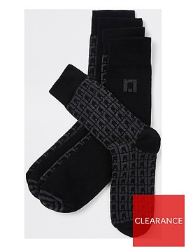 river-island-monogram-5pp-socks