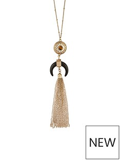 accessorize-statement-horn-long-pendant