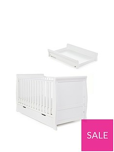 obaby-stamford-classic-sleigh-cot-bed-amp-cot-top-changer