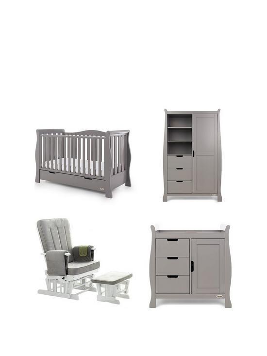 Obaby Obaby Stamford Luxe Sleigh 3 Piece Nursery Furniture Set