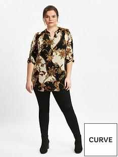 evans-chain-print-blouse
