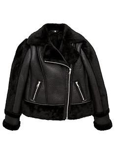 v-by-very-girls-pu-shearling-sleeve-aviator-jacket-black