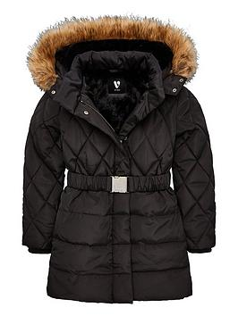 v-by-very-girls-faux-fur-hooded-amp-belted-coat-black