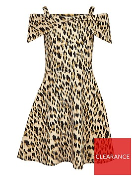 river-island-girls-brown-leopard-print-bow-front-dress