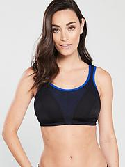 57c8bdd332b Pour Moi Energy Non Wired Full Cup Sports Bra (Second Sizes) - Black Cobalt
