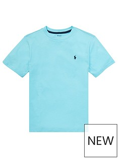 d36afd07392 Ralph Lauren Boys Classic Short Sleeve T-Shirt - Turquoise